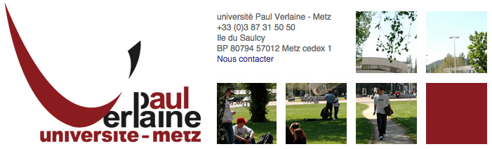 Bandeau du site Internet de l'université Paul Verlaine - Metz.
