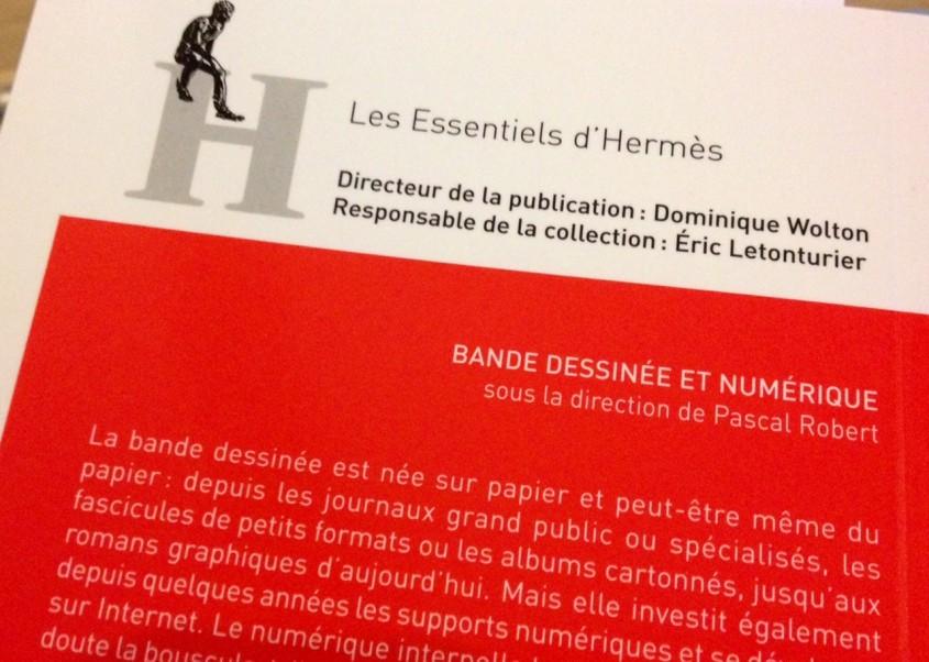"""Détail de la quatrième de couverture de """"Bande dessinée et numérique"""""""